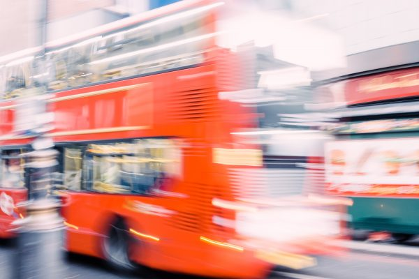 photograph of London Bus - Rush Hour