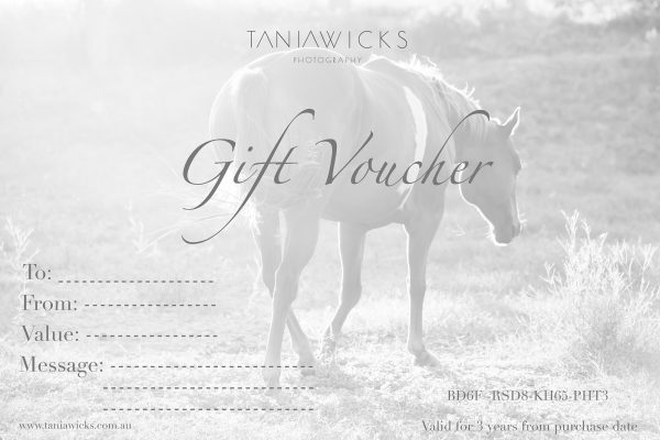 gift card Tania Wicks Photography