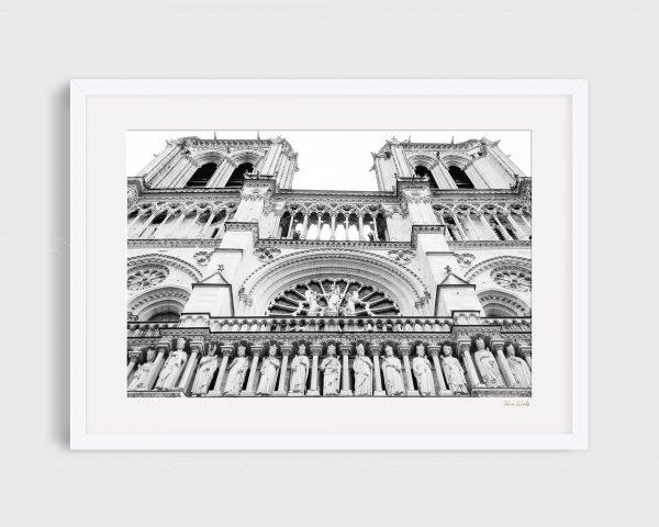 Photograph Notré Dame Paris - Cathedral Towers B&W