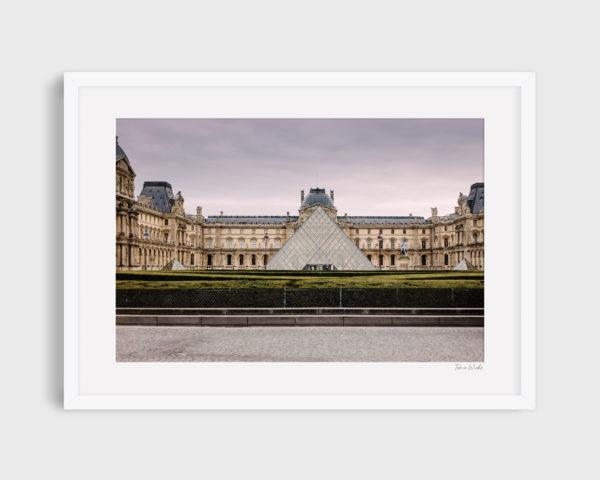 photograph Louvre museum glass pyramid