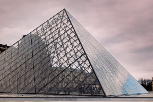 photograph Louvre museum glass pyramid