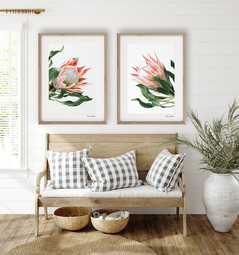 Duo_styled_king_protea_wall art