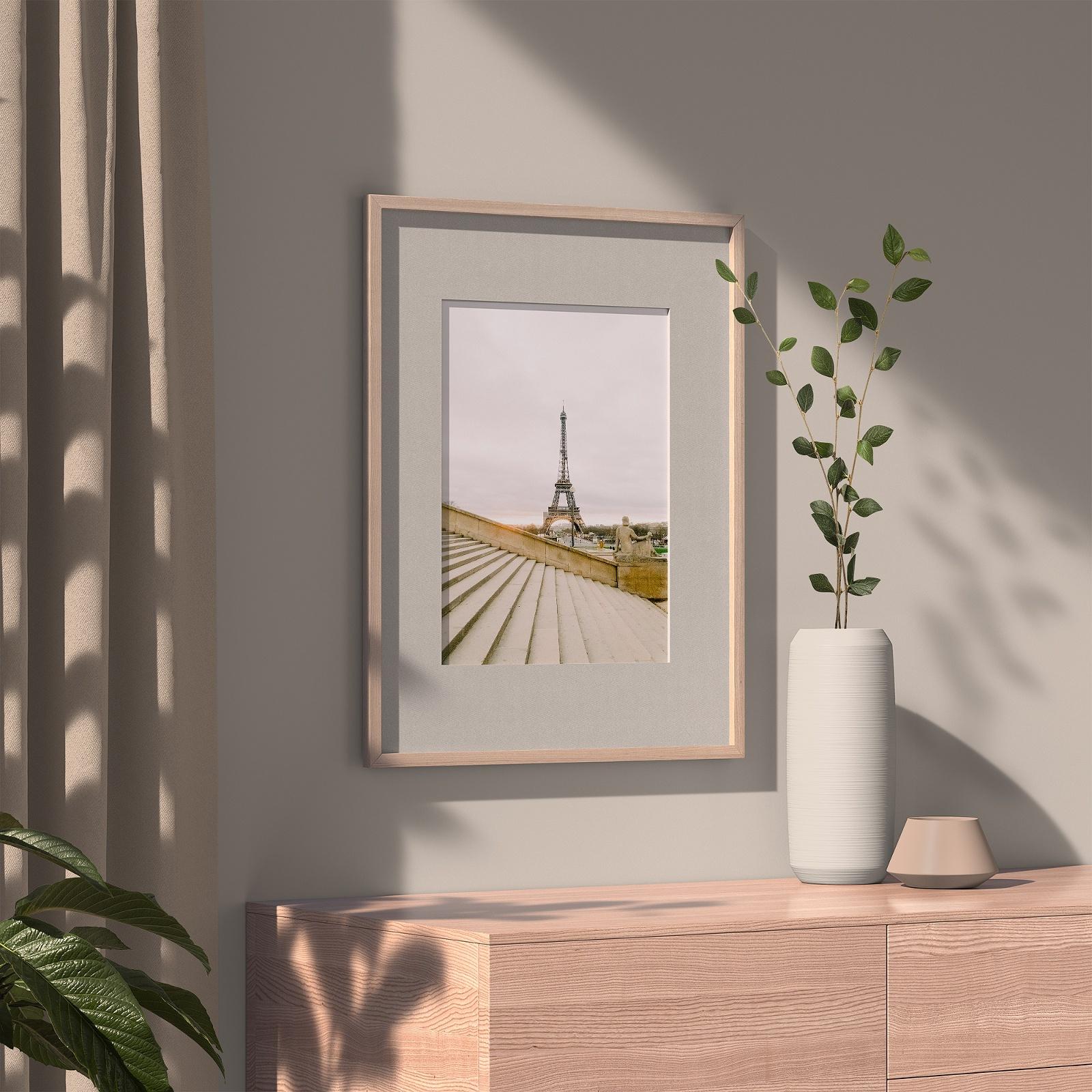 Oak framed photo of Paris Eiffel Tower